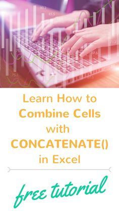 Learn how to combine cells in Excel using the CONCATENATE function. Watch this short Excel tutorial to see how the CONCATENATE formula works.