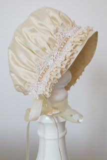 Angela Lace  Sweet silk baby bonnet http://www.adorable-kids.com/Return_Exchange_Policy_s/267.htm