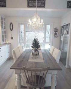 My kitchen . By @villatverrteigen #shabbychickitchentable