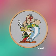 Cross-stitch-pattern-Asterix-And-Obelix-Counted-Cross-Stitch-Chart #crossstitchpattern #pattern #crossstitch #pdf #asterix
