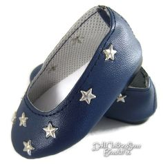 """Navy Star Ballet Flats Shoes for 18"""" American Girl Doll Clothes Huge Selection! #Unbranded"""