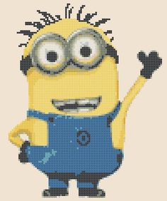 Minions DAVE simple version by PDFanimeCrossStitch on Etsy