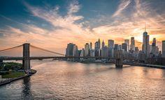 From Manhattan to Brooklyn... - Brooklyn bridge and Manhattan scene from Manhattan Bridge... :)