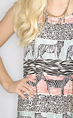 mink pink: animal stripe shift dress--Get 15% off + Free Shipping on ShopRiffraff.com when you use code 'RiffraffRepLauren' at checkout!