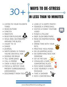 30 Ways to De-Stress Quickly #stress #management #calm