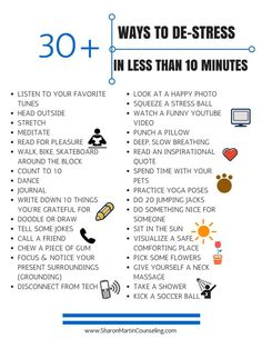 30 Ways to De-Stress Quickly #stress #management #calm