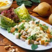 Lajos Mari konyhája - Körtés-szőlős libamellsaláta Kefir, Potato Salad, Cabbage, Curry, Potatoes, Meat, Chicken, Vegetables, Ethnic Recipes