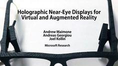 Microsoft Research(マイクロソフトリサーチ)が新たなARデバイス「Holographic Near-Eye Displays」を発表しました。高コントラストで高解像度、フルカラーのデジタルホログラムを投映可能です。