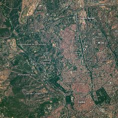Central Madrid With the most powerful lens available on theCentral Madrid With the most powerful lens available on the International Space Station, an astronaut took this photograph of Madrid, Spain's capital. Home to million people, Madrid is the Foto Madrid, Image Of The Day, Most Powerful, Space Station, City Photo, Lens, Grande, September, Photograph