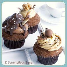 Calendar Cupcakes : Chocca, Mocha and Coffee & Walnut Gourmet Cupcake Recipes, Mini Cakes, Cake Pops, Mocha, Bakery, Deserts, Ice Cream, Sweets, Chocolate
