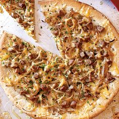 Chicken Sausage, Sweet Onion, and Fennel Pizza Recipe from Cooking Light