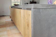 Betonnen eiland - Handgemaakte houten keukens van meubelmaker JP Walker