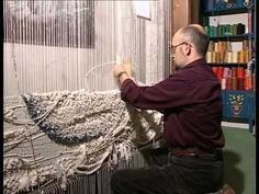 Very nice textural effects in a tapestry using rope.  ___ Documental: Un fil sense fi - How to make a tapestry - YouTube