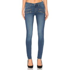 Paige Denim Edgemont Ultra Skinny ($245) ❤ liked on Polyvore featuring jeans, blue skinny jeans, skinny fit jeans, paige denim, skinny jeans and paige denim skinny jeans