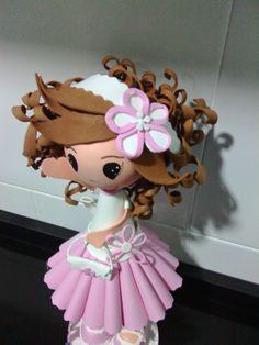 FOFUCHAS ROCÍO: Fofucha María!! personaliza con su pelo super rizado y siempre con su diadema!!