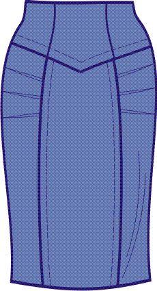 юбка с поясом-кокеткой выкройка