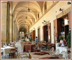 Logge Piazza Grande, Arezzo city, Tuscany, Italy