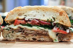 """This is one delicious sandwich.    A Hot and Toasty Steak Sandwich. When I was in college, my roommate and I used to order a sandwich called, """"The Gobbler."""" It started as a delicious turkey"""
