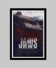 Jaws  12x18  Movie Poster  jaws movie poster film by DukeDastardly, $18.00