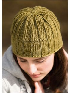 Ribby Toque Hat Knitting Pattern Download