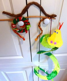 Year of the Snake crafts - paper plate snake, felt snake, pipe cleaner snakes, clay snake