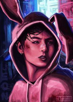 Jungkook Fanart, Digital Art Prints, Illustration, Drawings, Wallpaper Naruto Shippuden, Art, Anime, Fan Art, Pop Art