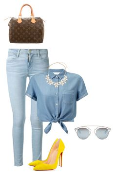 """""""Untitled #25"""" by ladyshouq on Polyvore featuring Frame Denim, Miss Selfridge, Dorothy Perkins, Christian Dior and Louis Vuitton"""