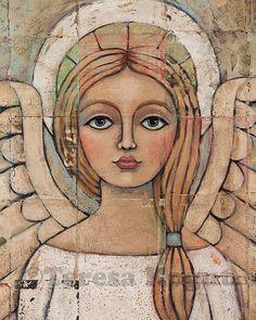 VISIÓN angelical 8 x 10 grabado por Teresa Kogut