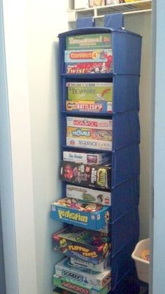 These 16 Craft Room Organization Hacks Are INCREDIBLE I love that you can keep s.These 16 Craft Room Organization Hacks Are INCREDIBLE I love that you can keep such a naturally cluttered area so cute Organisation Hacks, Organizing Hacks, Kids Room Organization, Storage Hacks, Playroom Storage, Organising, Playroom Ideas, Cheap Storage, Board Game Organization