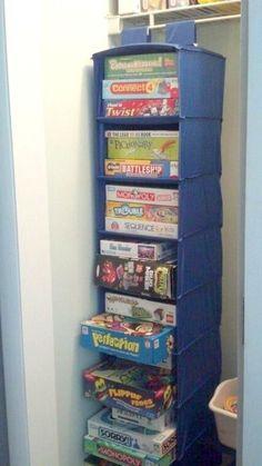 Board Game Storage Idea or craft storage                                                       …
