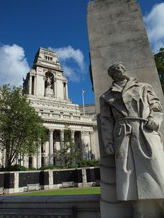 A figure on the war memorial by Tower Hill London (LW13)