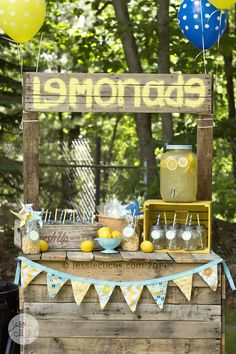boy lemonade stand party