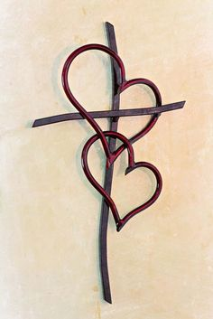 Double Heart Cross RED - Comes in 4 Sizes – Celebrate Faith