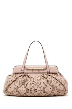 Valentino Floral Embroidered Cutout Handbag on HauteLook