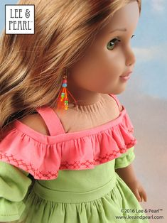 L&P Olá Brasil! Off-the-Shoulder Samba Top and Bahia Dress, and Traditional Brazilian Baiana Headwrap for 18 Inch Dolls like American Girl GOTY Lea Clark Doll Patterns, Dress Patterns, Clothes Patterns, Ag Dolls, Girl Dolls, Lea Clark, Pattern Images, Pattern Ideas, Vacation Dresses
