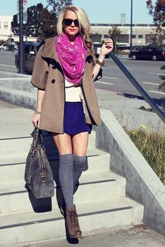 Love the upper half of this look, the shoes and socks are not my style..