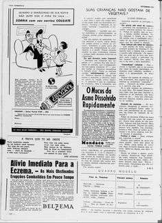 """Revista A Vida Doméstica,de Fevereiro de 1944 sobre a """"Phytofobia"""". Bem do lado da propaganda da Colgate!"""