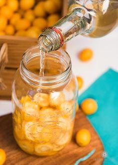 Kumquat Cardamom Liqueur Recipe (Waste Not Want Not Challenge) — Compost and Cava Kumquat Drink, Triple Sec, Cocktails, Cocktail Recipes, Mojito, Cocktail Gin, Marmalade Recipe, Ginger Liqueur Recipe, Gourmet