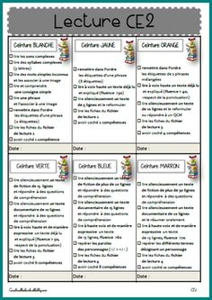 Ceintures de lecture CE2 School Organisation, Teacher Organization, French Education, Teachers Corner, Reading Logs, School 2017, Cycle 3, Reading Strategies, Learn French