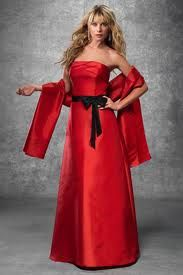 this is style and close to the color of bridesmaid dresses (crimson-deep red)