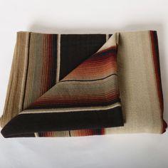 Handmade Merino Wool Serape Midnight, Tan, Burnt Orange