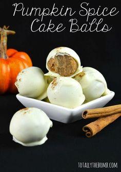 Chocolate Covered Pumpkin Spice Cake Balls