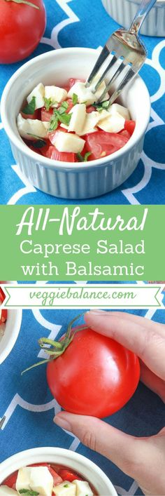 Caprese Salad with Balsamic - As good as summer gets. Gluten-free, Vegetarian made with all-natural fresh ingredients | http://www.VeggieBalance.com/caprese-salad-with-balsamic/