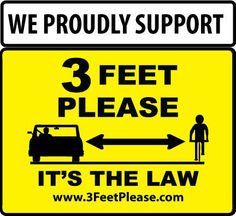 We support 3 feet