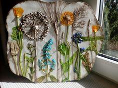Цветущее лето, ботанический барельеф Юлии Тимощук