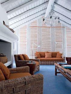 Summer spirit in this white living-room
