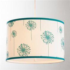 Nursery!  :) Dandelions Drum Pendant Light