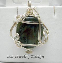 Labradorite in Silver Pendant by KLJewelryDesign on Etsy, $28.50