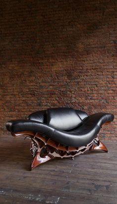 "steampunk furniture ""Diodon Solium"" Habitat Furniture, Man Cave Furniture, Dark Furniture, Funky Furniture, Unique Furniture, Furniture Design, Steampunk Furniture, Art Nouveau Furniture, Funny Baby Memes"