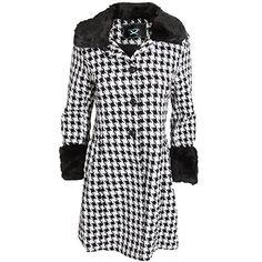 Manteau à motif pied de poule - Femme